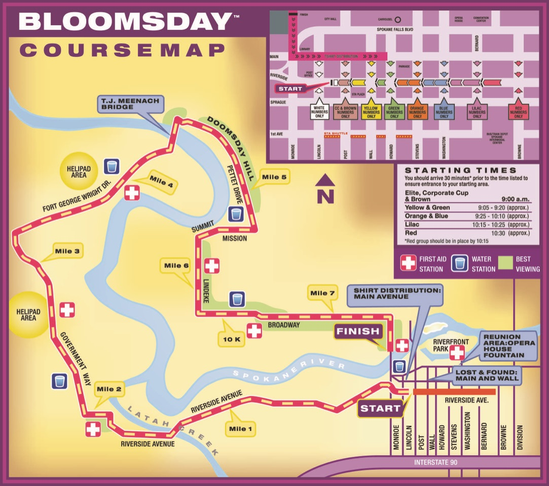 Bloomsday Course Maps